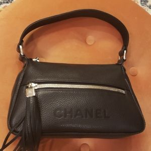 CHANEL LAX TASSLE HOBO Black